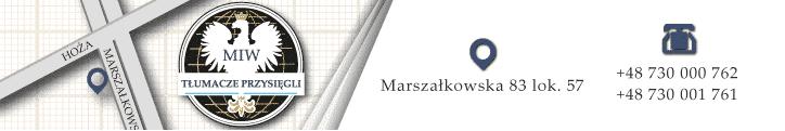 Biuro tłumaczeń MIW Marszałkowska logo